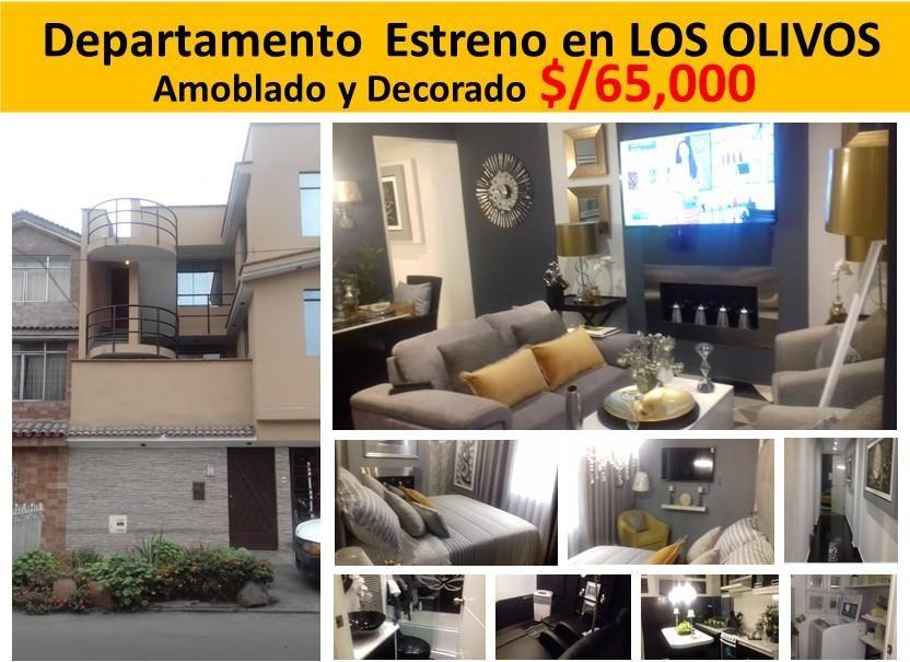 Venta Departamento en la mejor zona de LOS OLIVOS (Barato-Ocasión-Inversión)