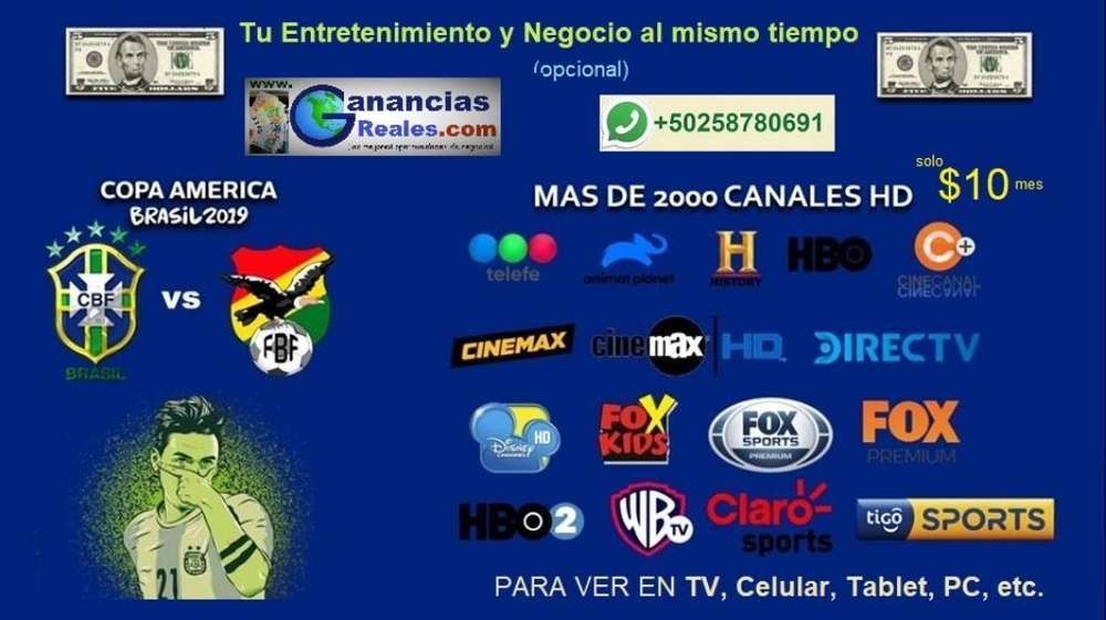 2,000 Canales Full Hd a Solo Q80