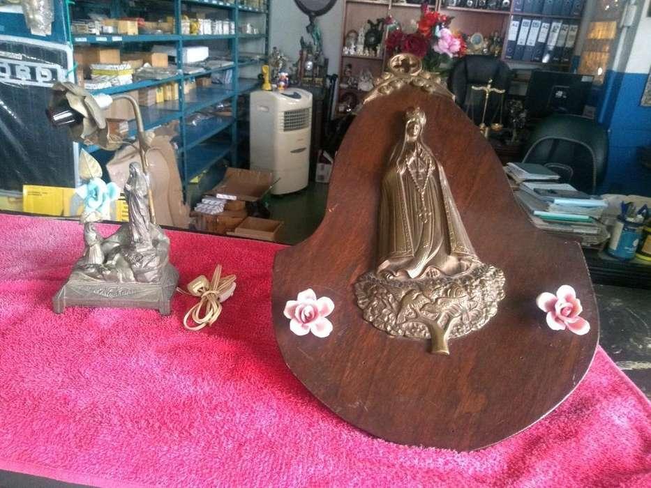Dos Piezas de Arte Religioso Antiguo