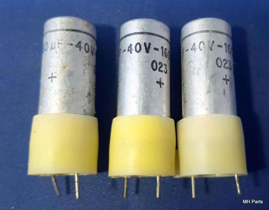 Sprague vertical 160 uF 40 VDC NOS