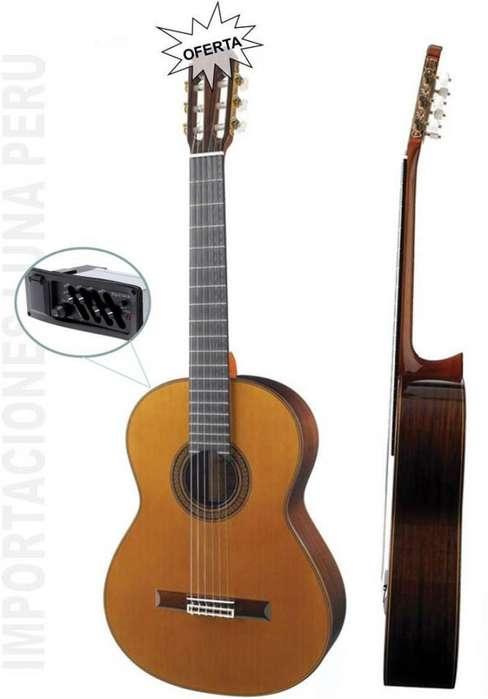 venta guitarra clasica española con ecualizador Montero