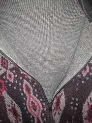 Campera Tejida doble espalda 55 bariloche interior tejido gris