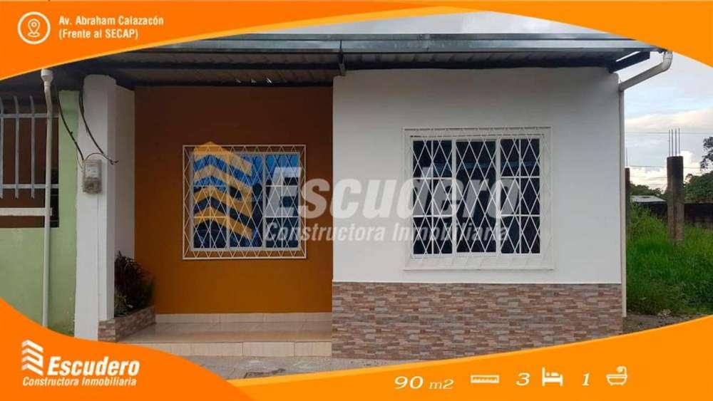 Vendo Casa Nueva por Estrenar, Av. Abraham Calazacon