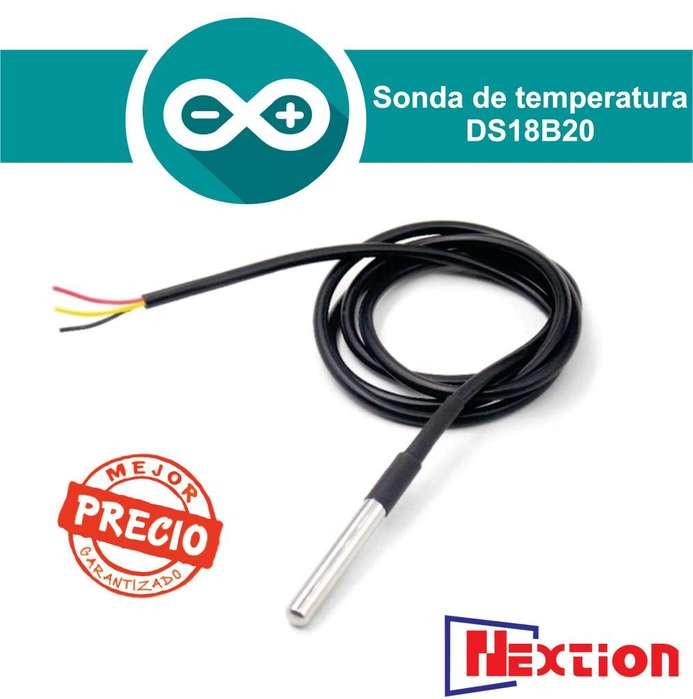 Sensor Sonda De Temperatura Digital Ds18b20 Encaps De Acero