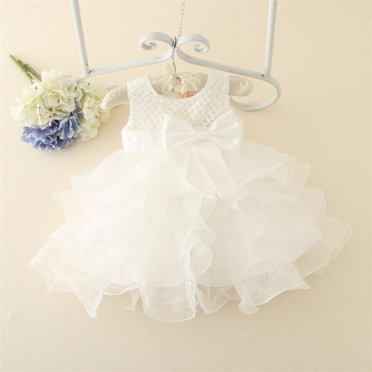 4a6e2b1f2 Vestido Bebe Niña Fiesta Blanco Perlas - Cali