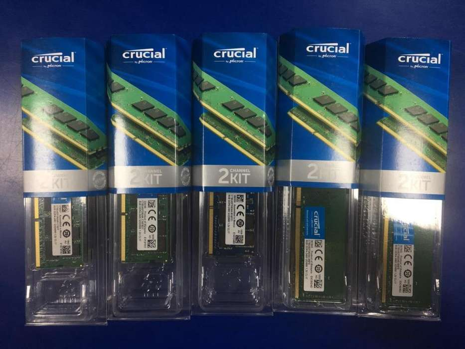 MEMORIA RAM DDR4 8 GB CRUCIAL PC Y PORTATIL NUEVA !!