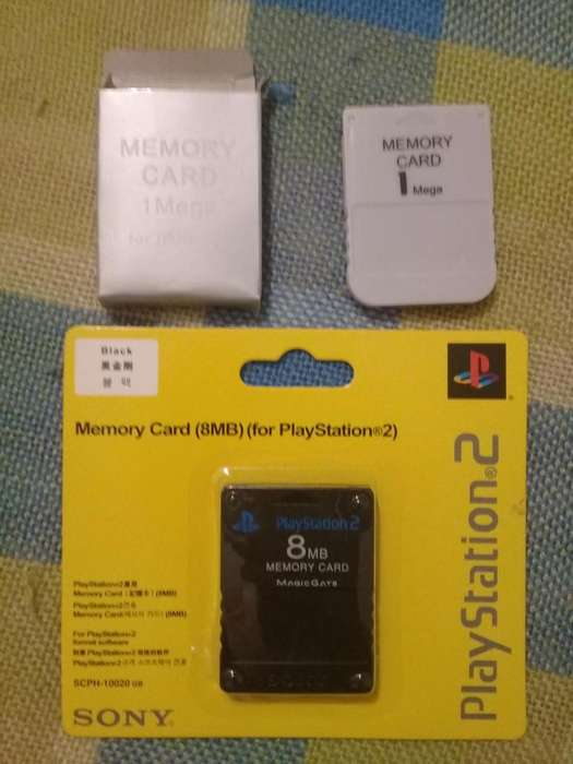 memory cards play station 1 y 2