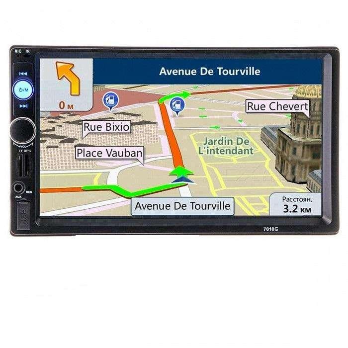 Radio Para Carro con Gps Bluetooth Usb micro Sd 7'' Mirrorlink 7010g memoria con mapas incluida