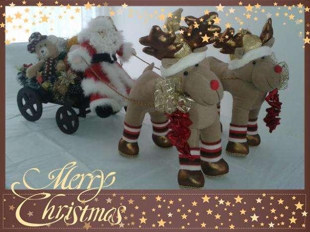 MUñecos navideños CARRETA DE PAPA NOEL