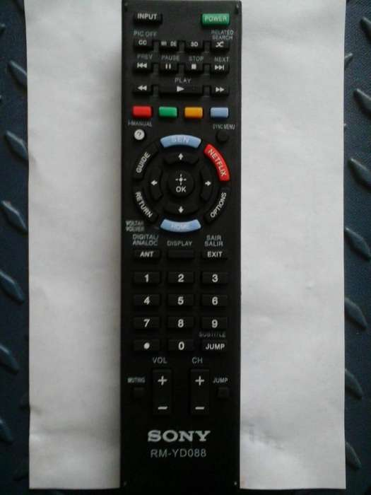Control remoto <strong>televisor</strong> Sony Bravia