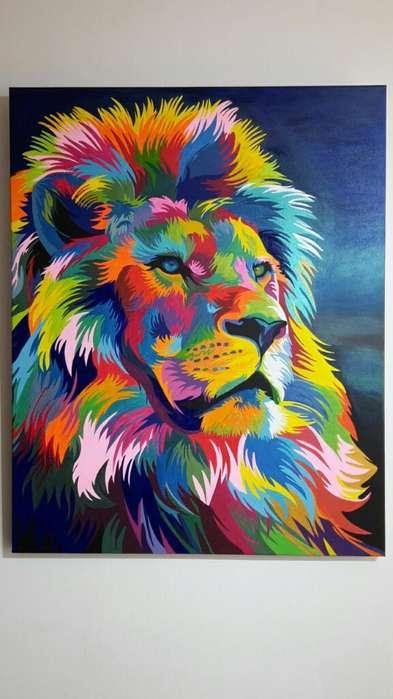 Cuadro 'león Acuático'