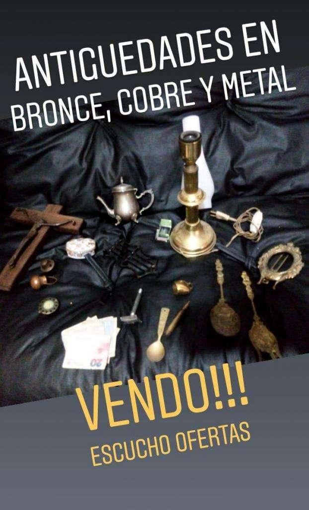antiguedades en bronce, cobre y metal