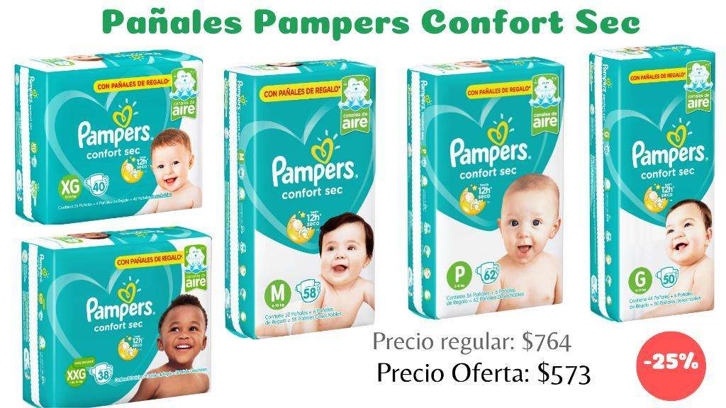 Pañales Pampers Confort Sec