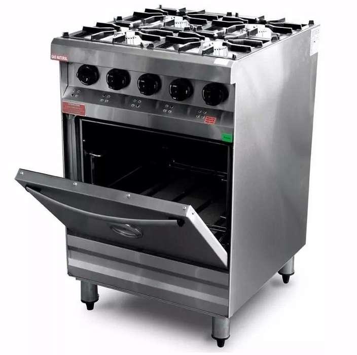 Cocina Industrial - Marca Rovesco - 60 X 60 cm - NUEVA