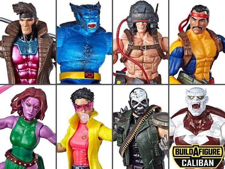 Set X7 Figuras X-men Marvel Legends Wave 4 (caliban Baf)