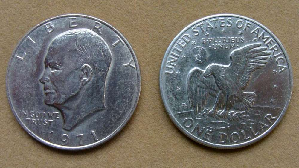 Moneda de 1 dólar Estados Unidos 1971