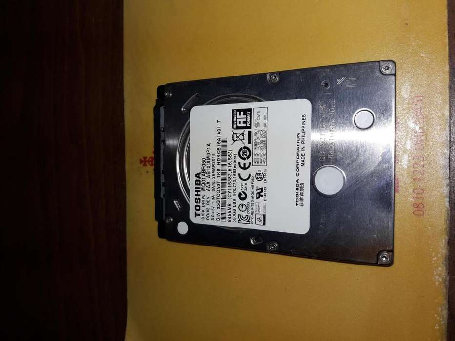 Disco Toshiba / Mk6465gsx / 640gb Sata 2.5 C/ Windows 10