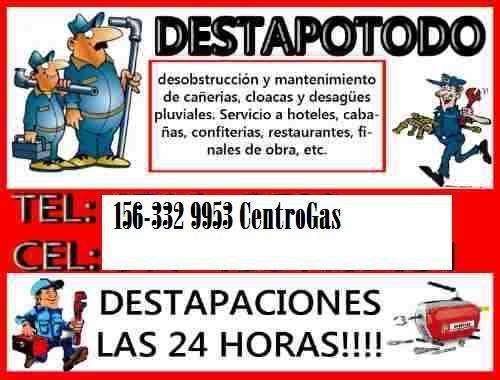 DESTAPACIONES CLOACALES 156 3329953 zona sur quilmes