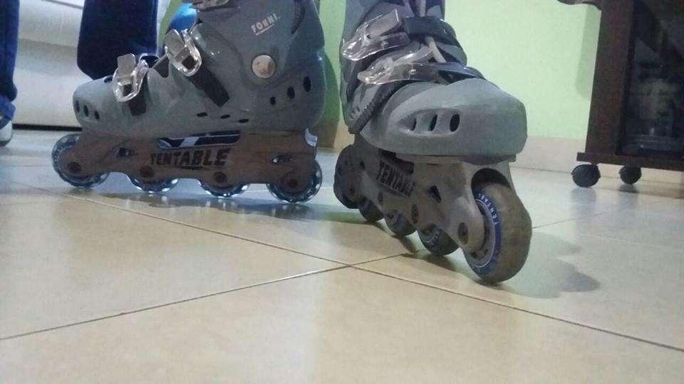 Rollers marca Tentable talle 36 37. Están como nuevos. Incluye protecciones