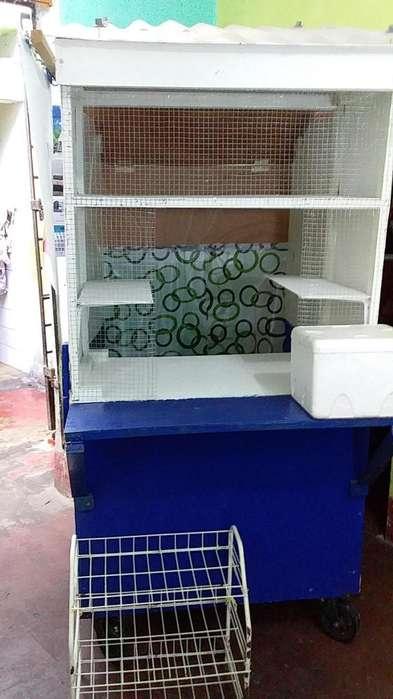 Kiosko Rodante Plegable y Carrito para diversos usos
