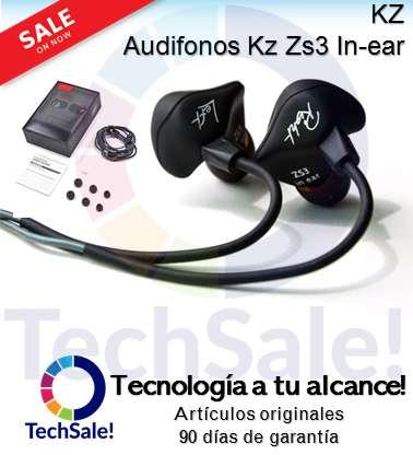 Auriculares Kz Zs3 Audifonos Manos libres In Ear