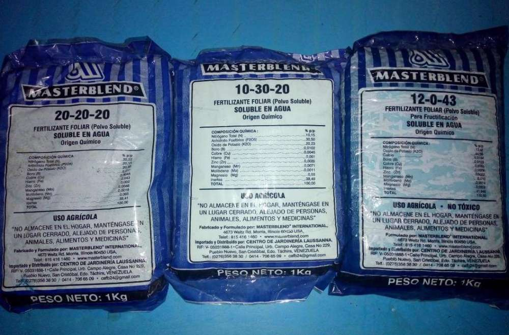 Masterblend Fertilizante Foliar (polvo Soluble)