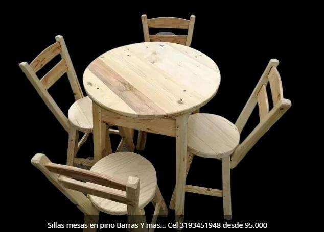 <strong>sillas</strong> y mesas para restaurante y bar desde 95.000 Juego Cel 3193451948