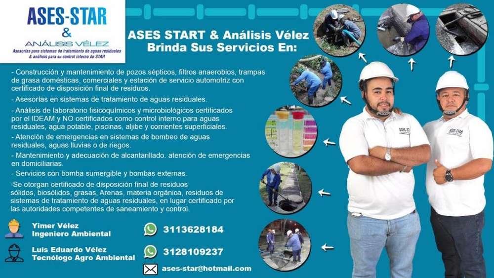 LIMPIEZA Y MANTENIMIENTO DE PTAR sistemas de tratamiento de aguas residuales STAR