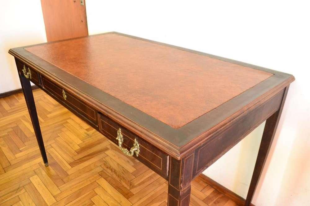 <strong>escritorio</strong> antiguo roble estilo ingles frances 120 x 70. capital federal