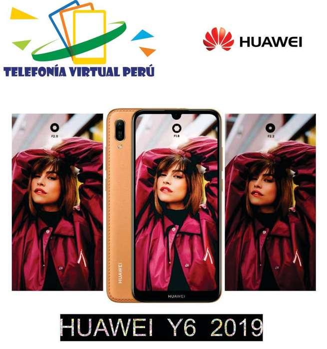 Huawei Y6 2019 32GB/2RAM NUEVO SOMOS TELEFONÍA VIRTUAL PERÚ