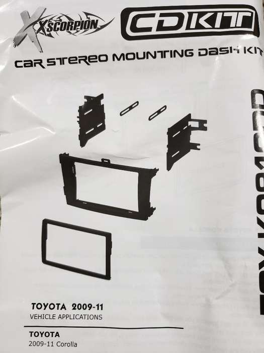 Kit Dash Radio Toyota Corolla 09-13