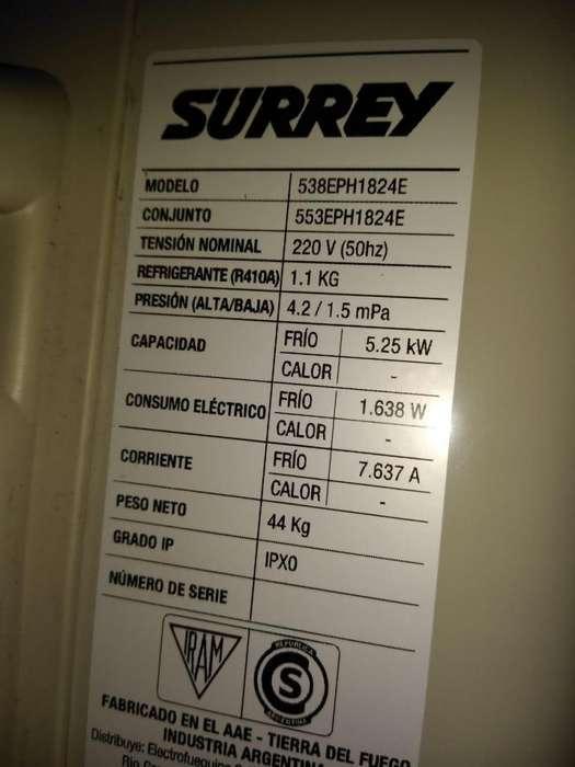 Vendo excelente aire acondicionado Surrey 4500 frigorias