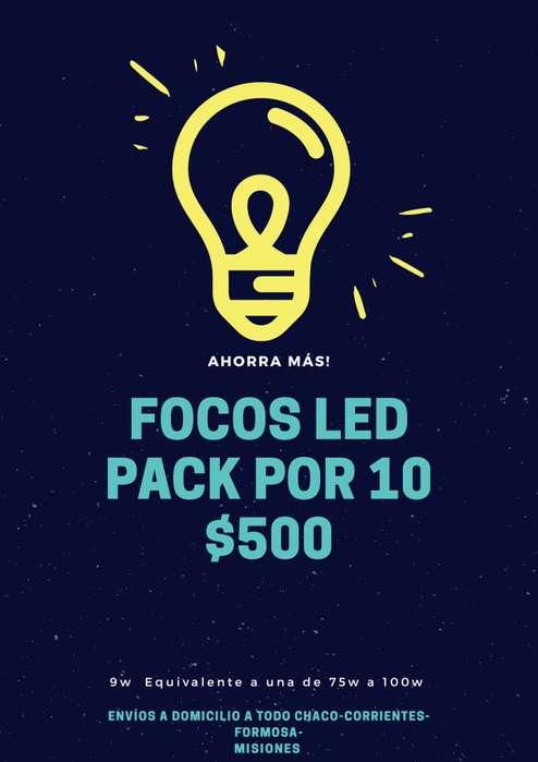 focos leds a precio mayorista oferta pack x 10
