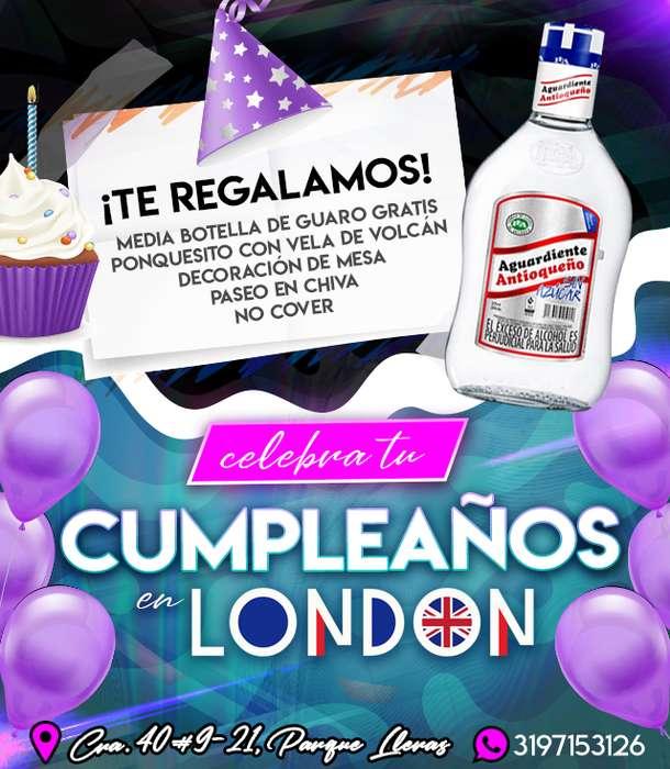 Combo de Cumpleaños en London Discoteca