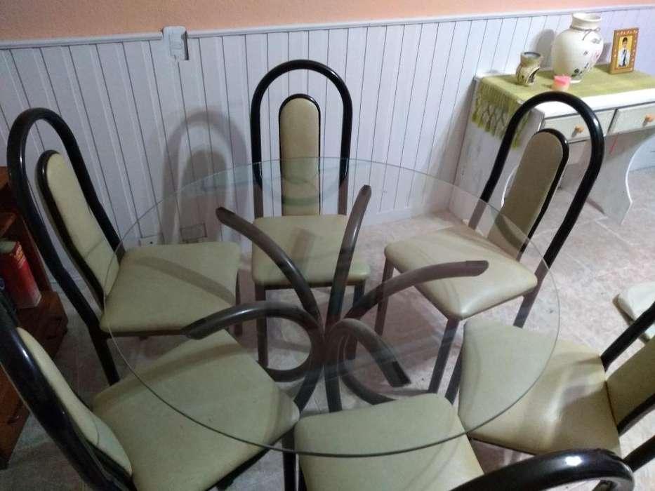 Mesa de Vidrio con 6 <strong>silla</strong>s