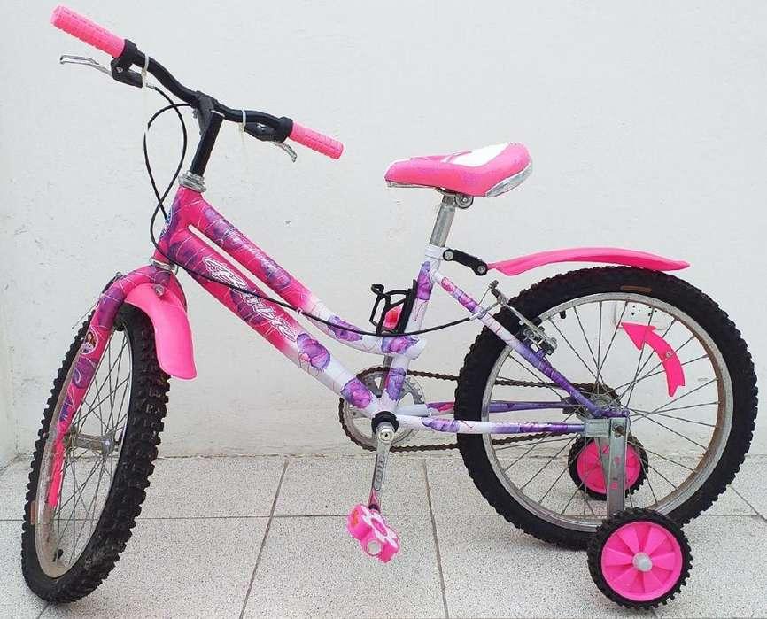 Bicicleta de la Barbie para niña