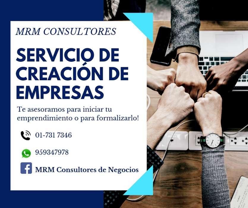 SERVICIO DE CREACION DE EMPRESA CONSTITUCION DE EMPRESAS
