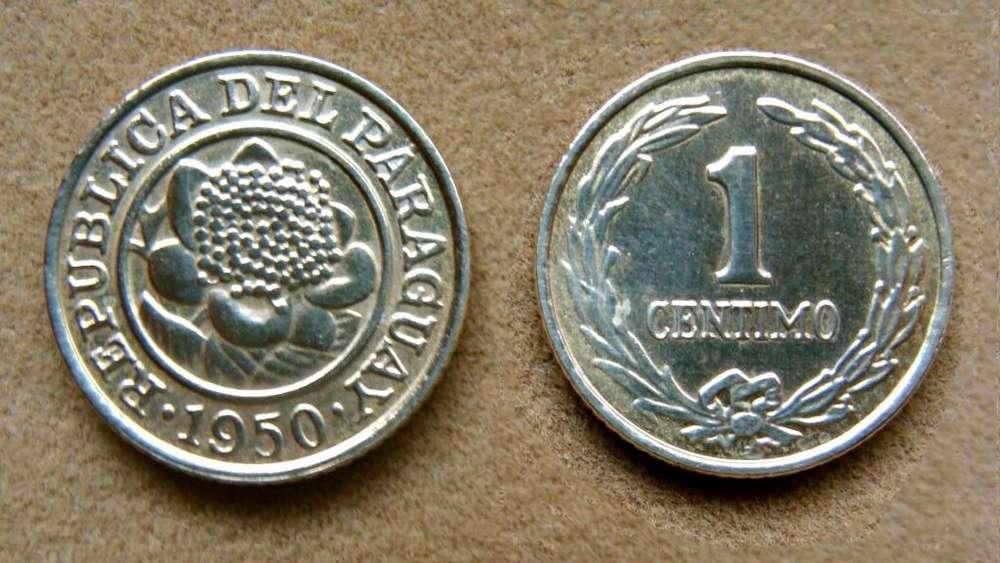Moneda de 1 céntimo Paraguay 1950