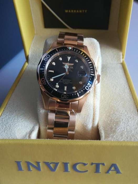 Reloj Invicta Pro Diver oro, dorado, Relojes hombre Citizen Fossil Casio Rolex. Regalo papá dia del padre