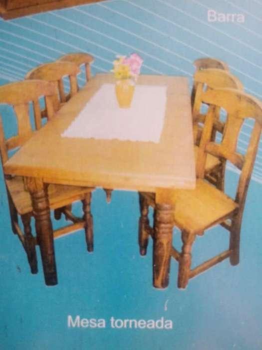 Mesa torneada 1.80x0.90 mts madera nueva!!!