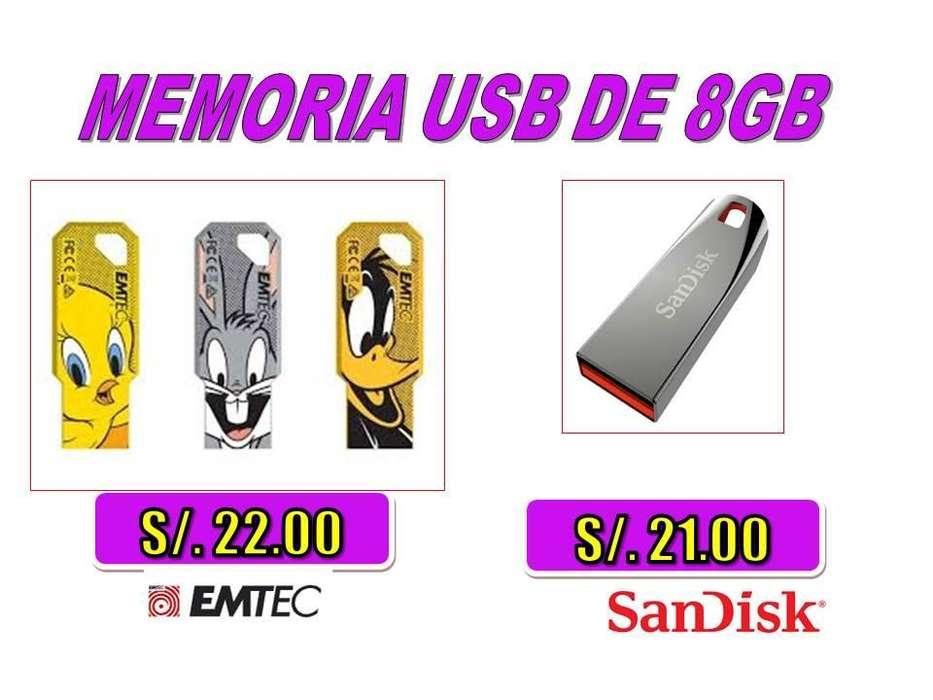 <strong>memoria</strong> USB DE 8GB