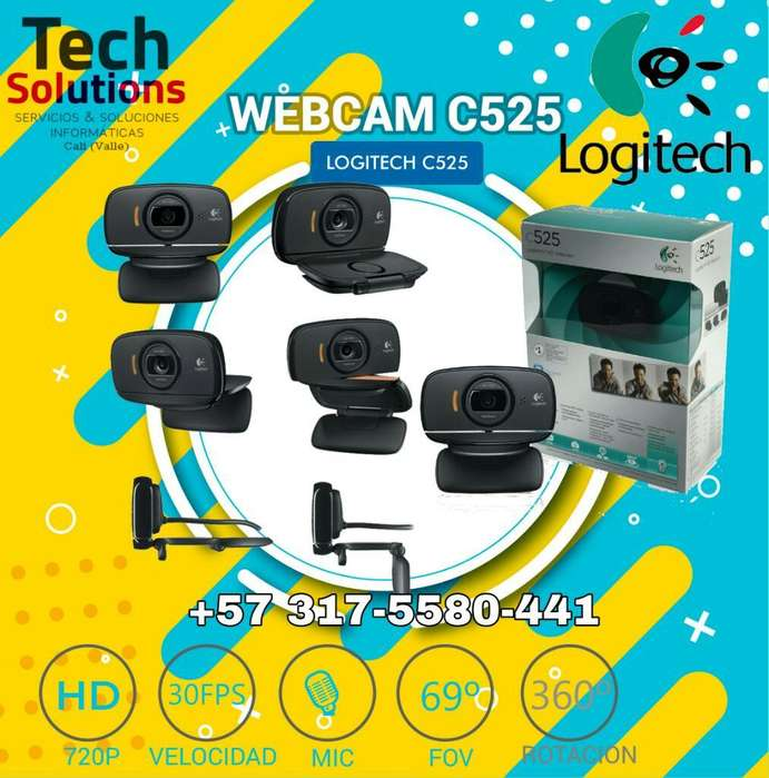 Logitech Cámara Webcam Hd C525 Video Hd