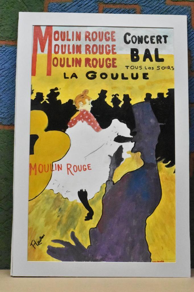 Cuadro en Acrílico Representando el afiche mas famoso de Tolousse Lautrec