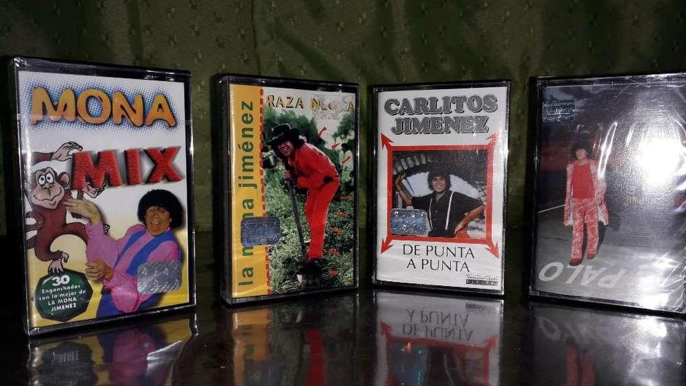 Casettes Mona Jimenez Nuevos Los 4