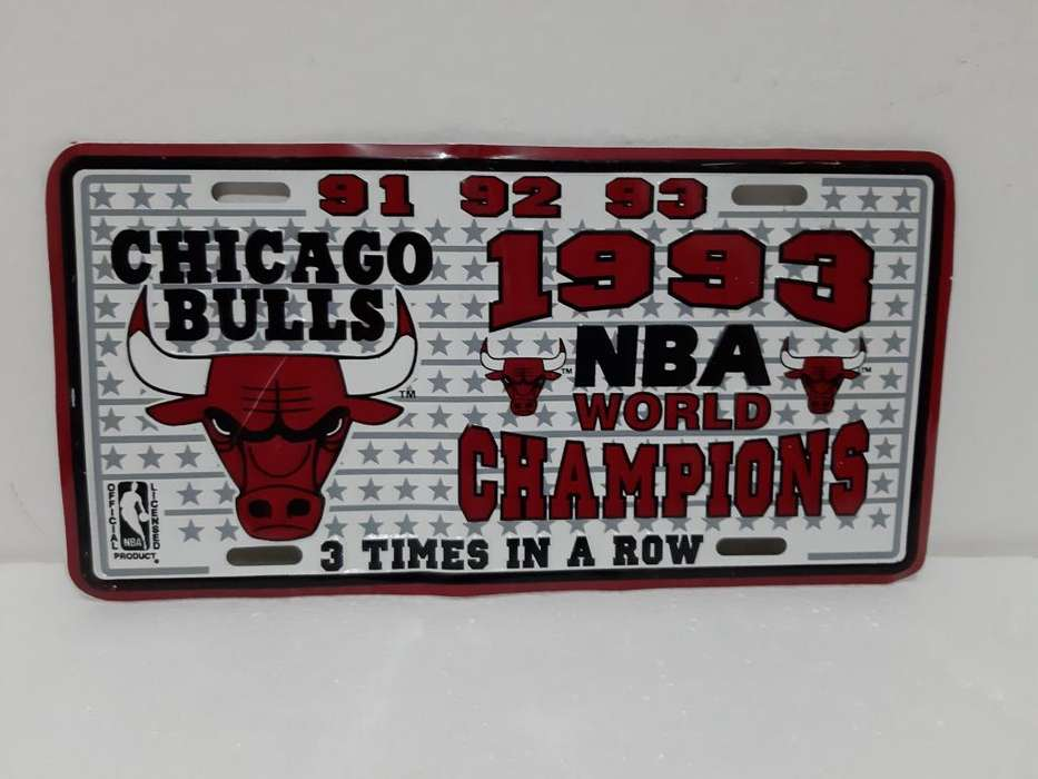 Placa Decorativa Carro Chicago Bulls