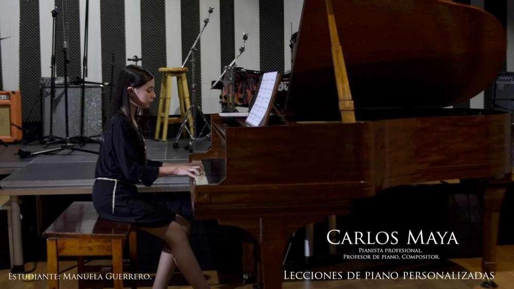 Profesor de piano a domicilio en Bogotá. Pianista Profesional Universidad Nacional.