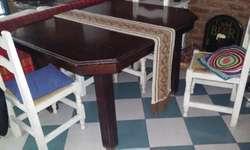 Muebles antiguos juego de mesa y mueble de comedor s/sillas ...