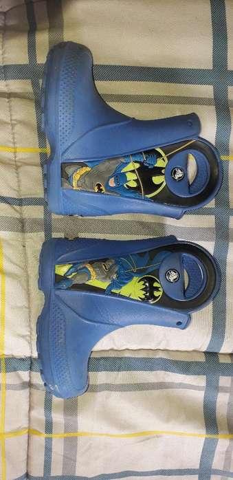 Botas Crocs Azul Batman