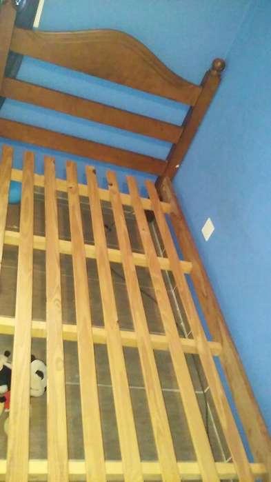 <strong>cama</strong> de Algarrobo Plaza Y Medía
