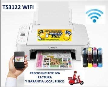 Impresora Canon E471/ TS3122 Wifi Con Sistema De Tinta Continua PRECIO INCLUYE IVA ENTREGA A DOMICILIO